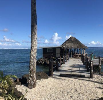An open air fale in Samoa